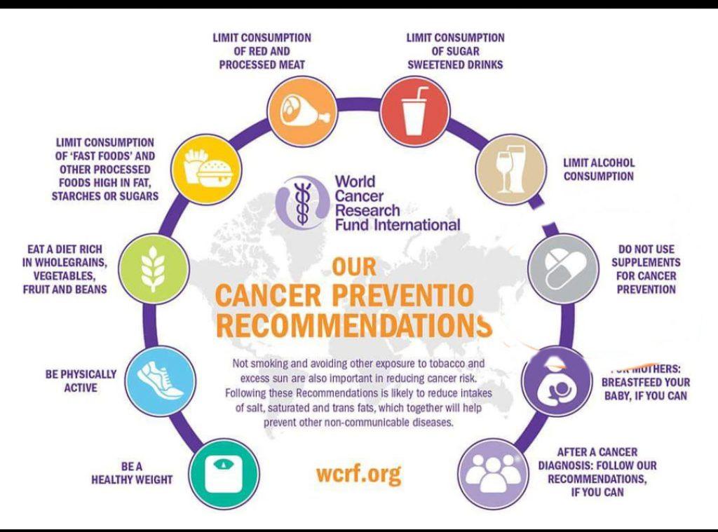 cancro raccomandazione alimenti